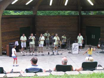 Bill Koss Combo Playing in Band Shell