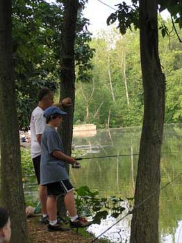 Boy and Dad Fishing